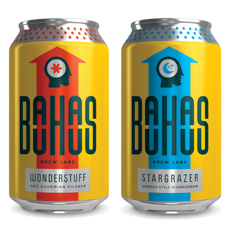 Bauhaus Brew Labs beer label design inspiration