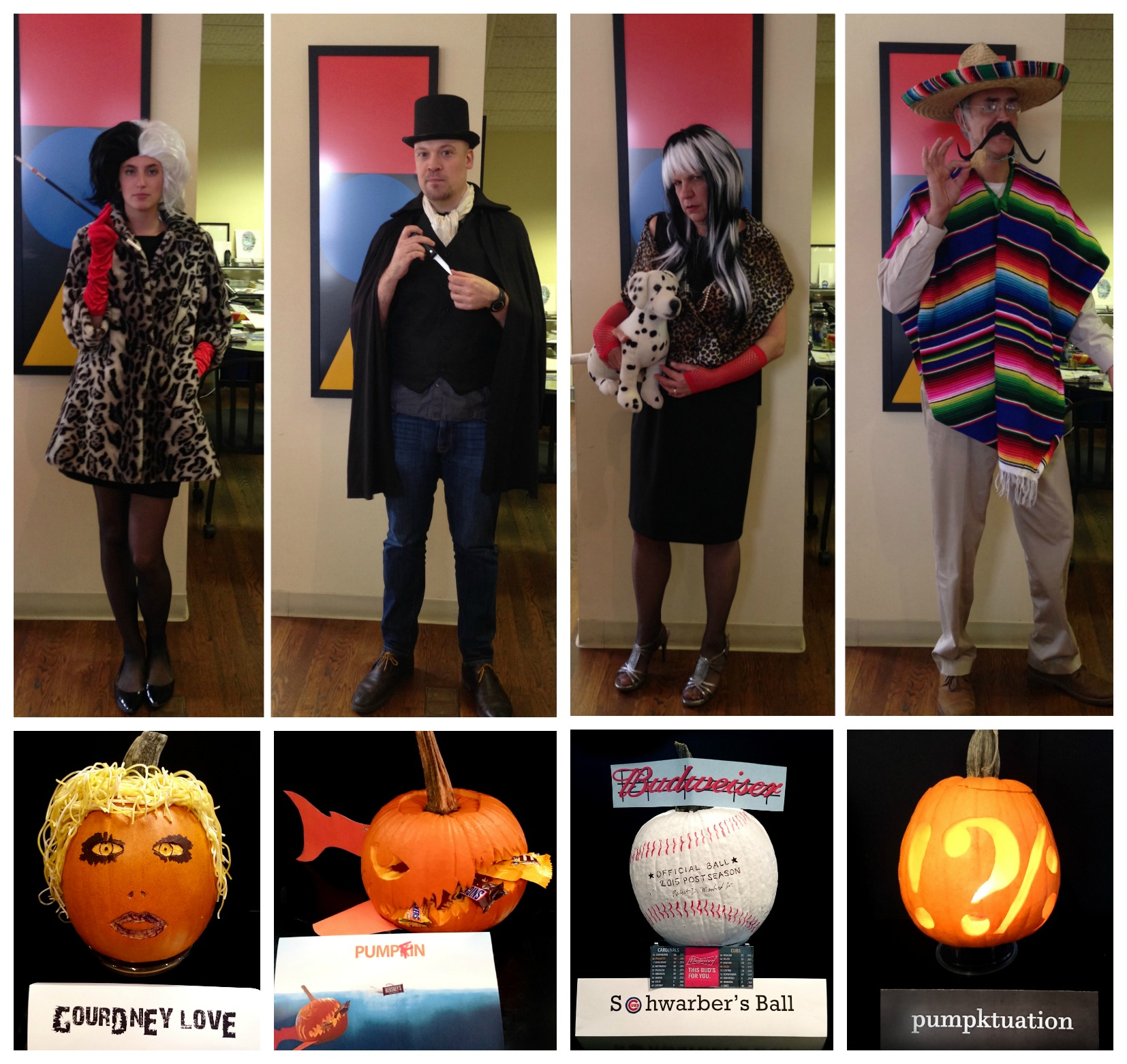NeigerDesign Halloween pumpkin contest villain costumes