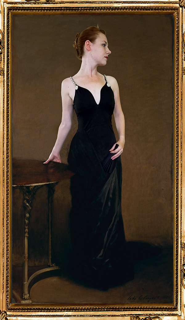 Denae as Portrait of Madame X John Singer Sargent