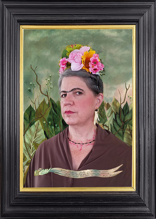 Michelle as Frida Kahlo (Self Portrait)