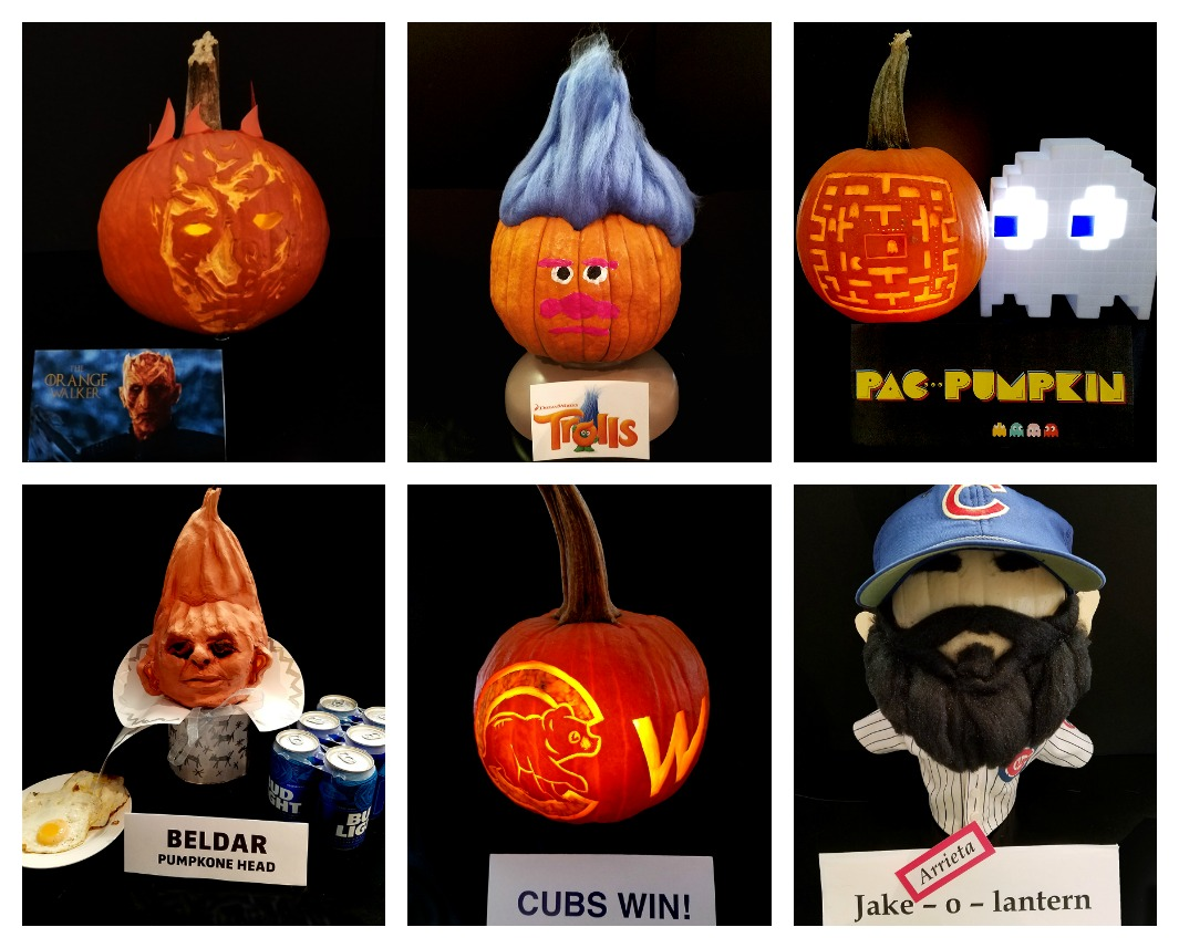 2016 Annual NeigerDesign Pumpkin Contest Collage