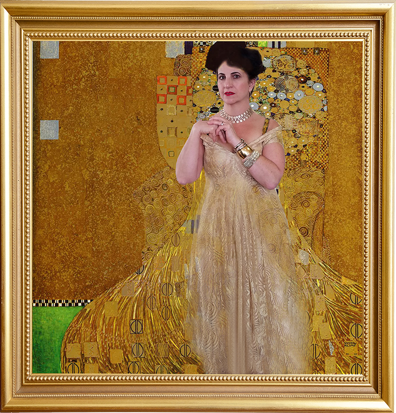 Carol as Portrait of Adele Bloch-Bauer I Woman in Gold Klimt