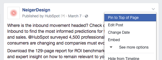 How to Pin a Facebook Post to the Top of Your Timeline