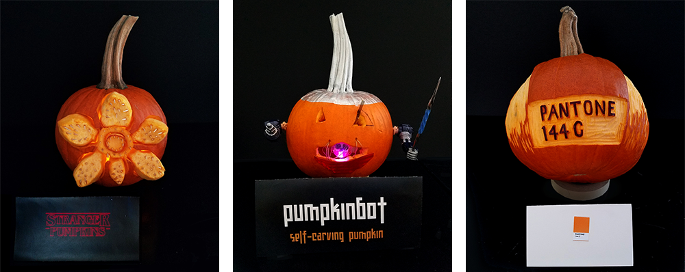 NeigerDesign annual pumpkin contest creative pumpkin carving
