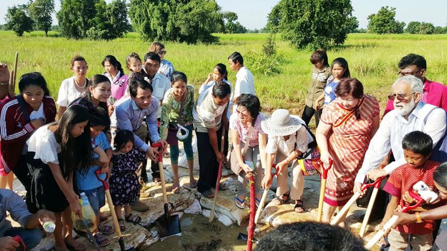 Breaking ground on Cambodia Baha'i Temple site