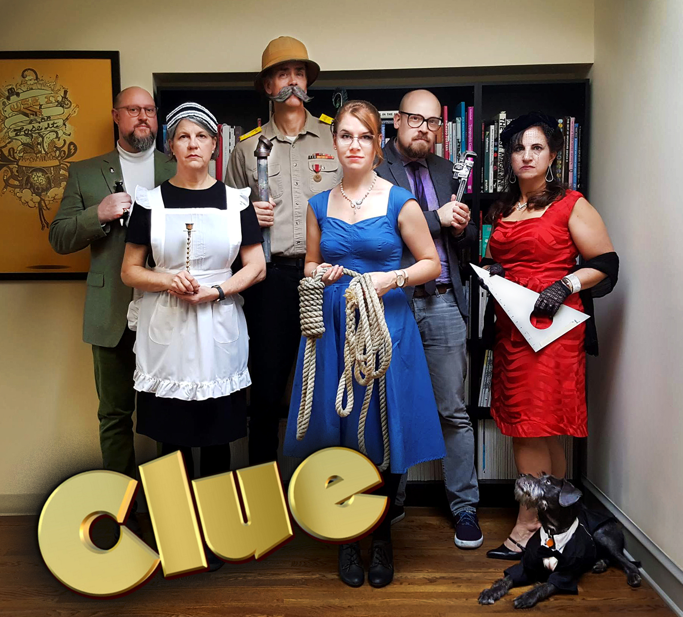 NeigerDesign Clue group costume, a design agency Halloween