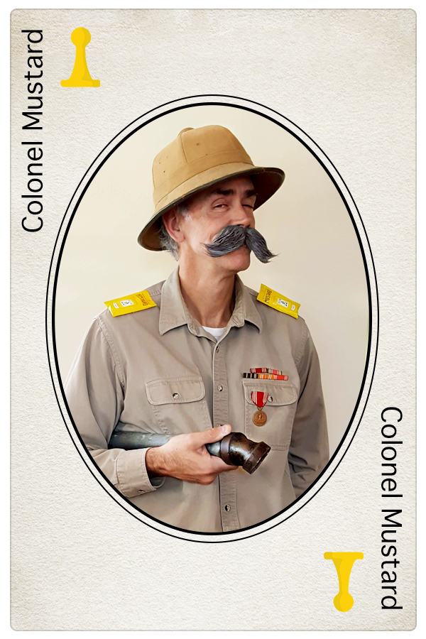 Colonel Mustard Clue Card NeigerDesign Jim Hutchison