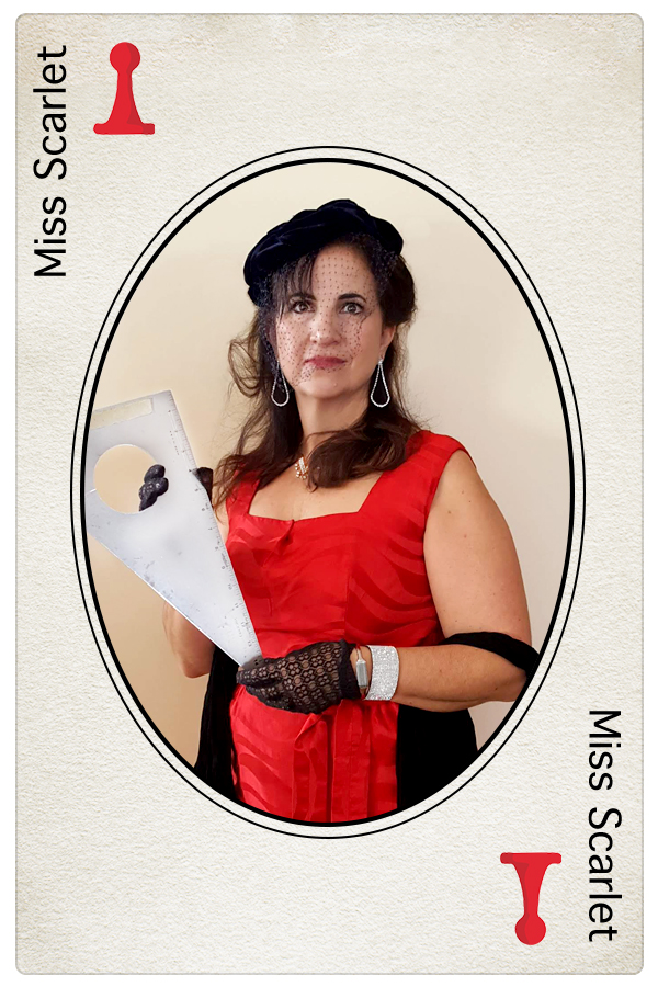 Miss Scarlet Clue Card NeigerDesign Carol Neiger
