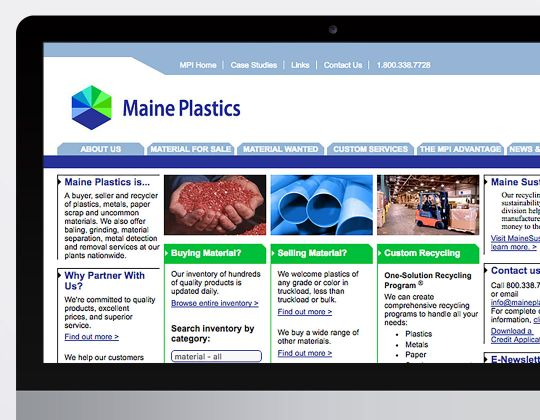 Maine Plastics Website