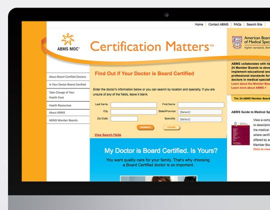 ABMS Maintenance Of Certification Website