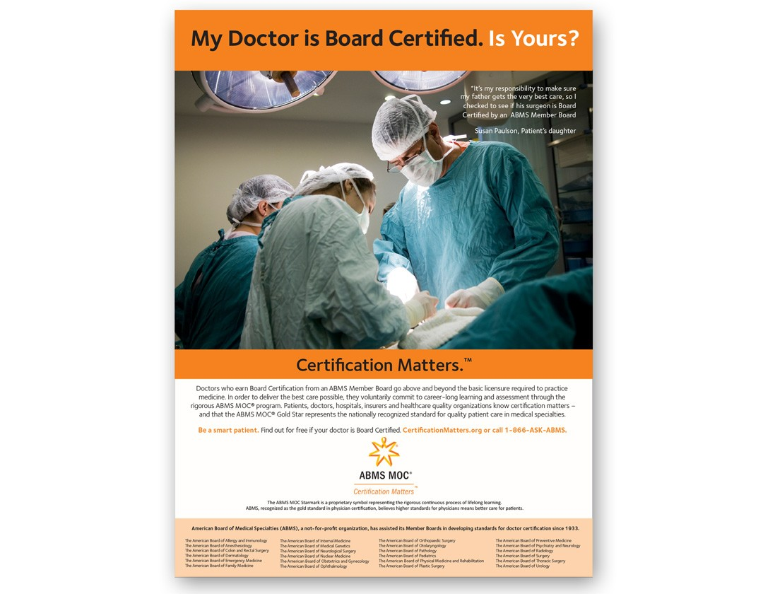 American Board of Medical Specialties Ad Campaign