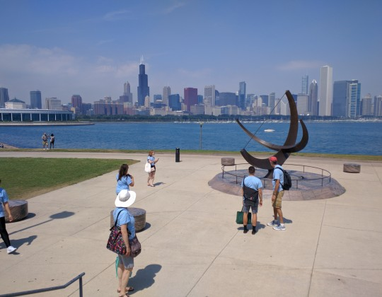 Neiger Visits the Adler Planetarium