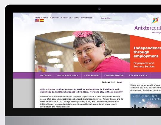 Anixter Center Website